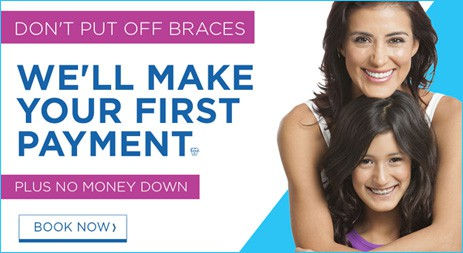 we will make your first payment braces